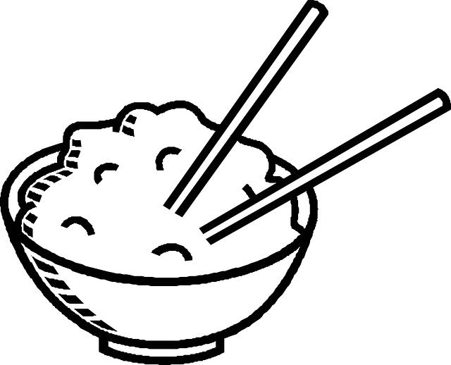 ご飯にお箸を刺しているイラスト